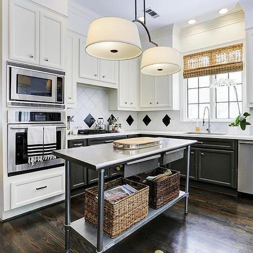 Another great way to grab an affordable kitchen island is to buy a commercial stainless steel worktable. This is a fairly inexpensive option that comes in a ... & 55 Great Ideas for Kitchen Islands - The Popular Home