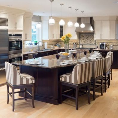 Kitchen Island Table Combo 55 great ideas for kitchen islands - the popular home