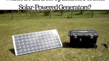 best options portable solar powered generators
