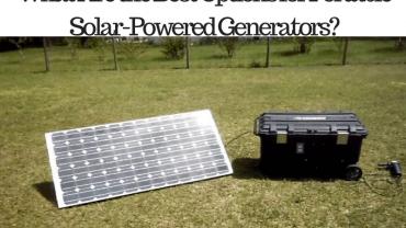 best options portable solar powered generators