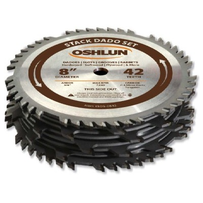 Oshlun SDS-0842 8-Inch 42 Tooth Stack Dado Set