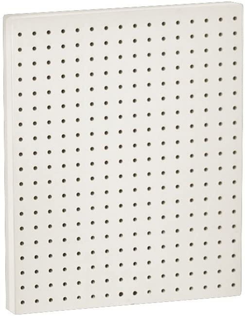 Azar 771620-WHT Pegboard 1-Sided Wall Panel