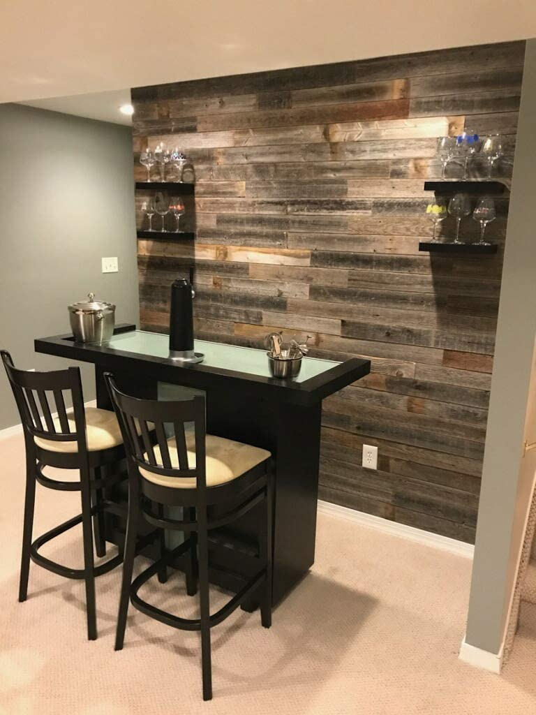 Real Weathered Wood Planks Walls
